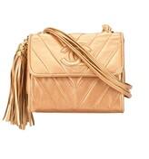 Chanel Pre Owned V Stitch tassel crossbody bag