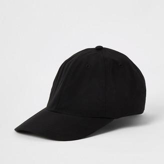 River Island Black clip back baseball cap