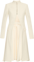 Alexander McQueen Stand-collar leaf-crepe tailored jacket