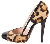 Giambattista Valli Ponyhair Cutout Pumps