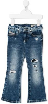 Diesel LOWLEE destroyed bootcut jeans