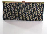 Christian Dior Beige Canvas D Print Clutch Handbag Size Small
