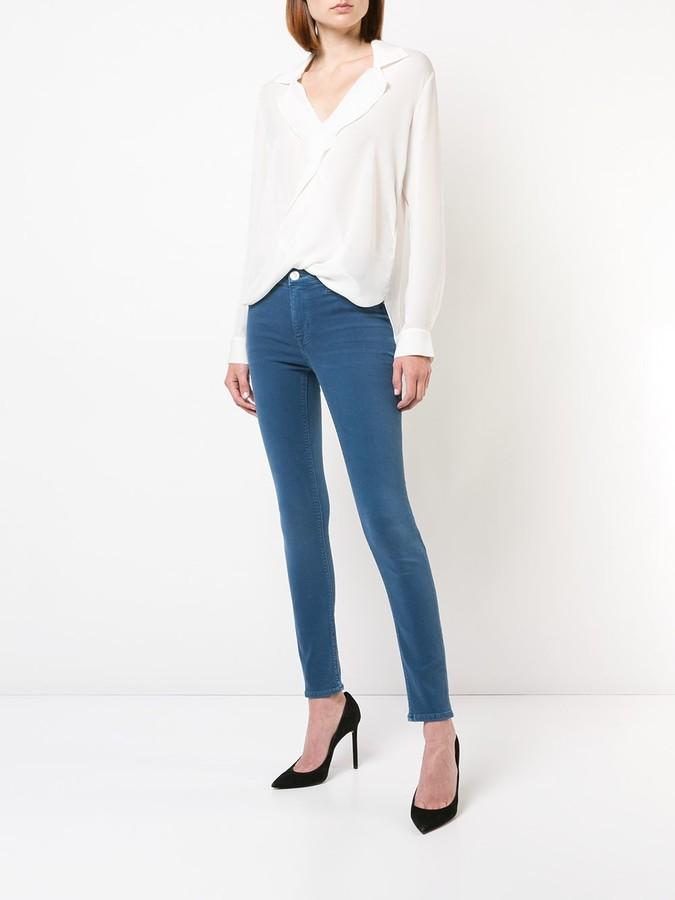 Thumbnail for your product : L'Agence draped V-neck blouse