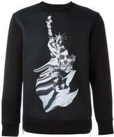 Neil Barrett statue print sweatshirt