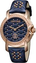 Roberto Cavalli QUILTED Women's Swiss-Quartz Leather Strap Watch
