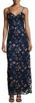 Self-Portrait Eva Embroidered Floral Slip Dress
