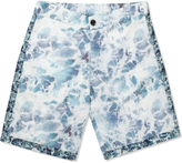 Patrik Ervell Ocean Print Athletic Shorts