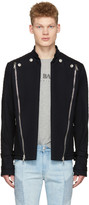 Pierre Balmain Navy Convertible Jacket