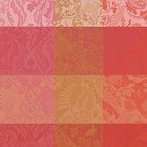 """Garnier Thiebaut Garnier-Thiebaut, Mille Ani Radieux Tablecloth, 35"""" x 35"""", Salmon, Gold, Orange, 100 Percent Cotton"""