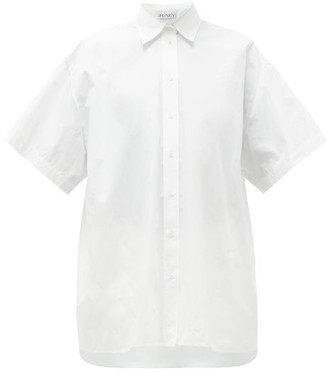 Raey Oversized Short-sleeved Cotton Shirt - White