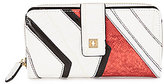 Kate Landry Angled Patchwork Zip-Around Wallet
