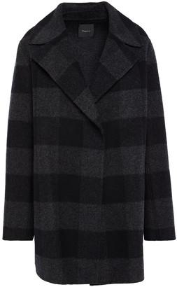 Theory Checked Wool-felt Coat