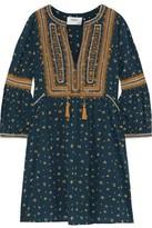 BA&SH Anily Embroidered Printed Cotton Mini Dress