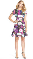 Betsey Johnson Floral Scuba Fit & Flare Dress