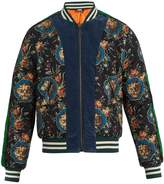 Gucci Floral-print quilted-silk bomber jacket