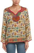 Tolani Leah Silk Tunic Top.