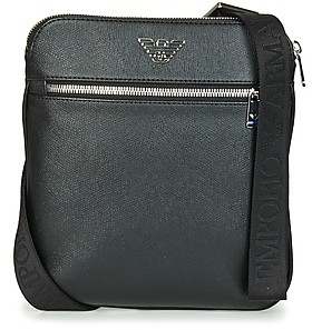Emporio Armani BUSINESS FLAT MESSENGER BAG men's Pouch in Black