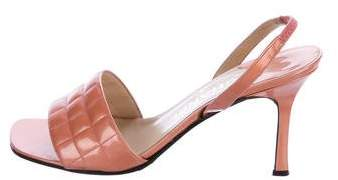 Chanel Patent Leather Slingback Sandals