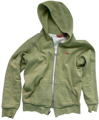 Supreme Green Cotton Jacket for Women