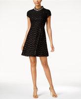 Vince Camuto Embellished Fit & Flare Dress