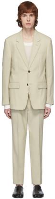 Maison Margiela Beige Wool Poplin Suit