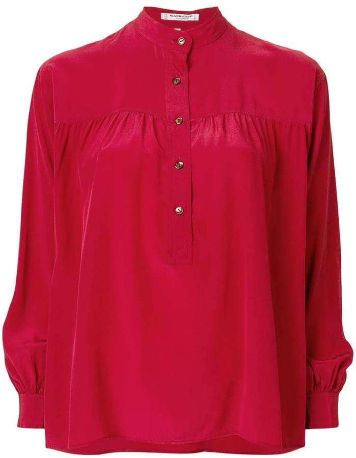 fc6041923 Red Button Up Blouse - ShopStyle