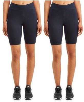 """Athletic Works Women's Active 9"""" Basics Bike Short 2 Pack"""