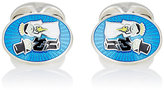 Barneys New York Men's Bride & Groom Cufflinks-BLUE