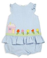 Florence Eiseman Baby's Checked Seersucker Top & Bloomers Set