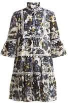 Erdem Wyn Windsor Wallpaper-print cotton-blend dress