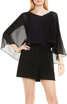Vince Camuto Sheer Overlay Romper