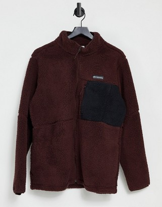 Columbia Mountainside Heavyweight fleece in burgundy
