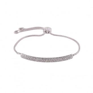Love Rocks Crystal Set Bar Drawstring Style Bracelet