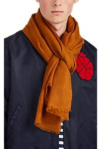 Barneys New York Men's Cashmere Twill Scarf - Yellow