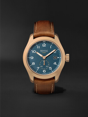 Bremont Broadsword Automatic Chronometer 40mm Bronze and Nubuck Watch - Men - Green