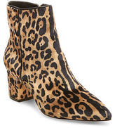 Steven By Steve Madden Bollie Leopard-Print Ankle Boots