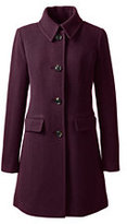 Lands' End Women's Tall Wool Car Coat-Gemstone Teal