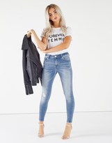Forever New Petite Ankle Grazer Mid Rise Jeans