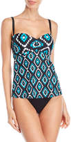 Jones New York Printed Bandeau Tankini Top