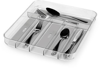 Madesmart Soft Grip Cutlery Tray Clear