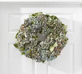 Pottery Barn Live Hydrangea & Echinops Round Wreath