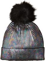 Steve Madden Solid Metallic Cuff Hat Caps