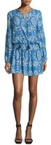 Parker Maeve Long-Sleeve Printed Dress, Glacius Brocatto