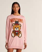 Moschino Pink Ringmaster Bear Sweater Dress