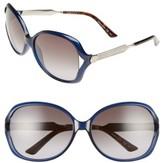 Gucci Women's 60Mm Open Temple Oval Sunglasses - Black/ Grey