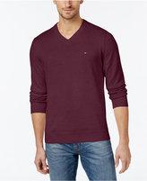 Tommy Hilfiger Men's Big & Tall Signature Solid V-Neck Sweater