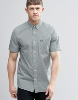 Fred Perry Shirt In Slim Fit In Gingham Check Short Sleeves