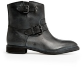 MANGO Outlet Buckle Leather Ankle Boots