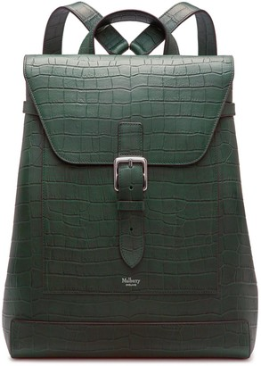 Mulberry Chiltern Backpack Green Matte Croc