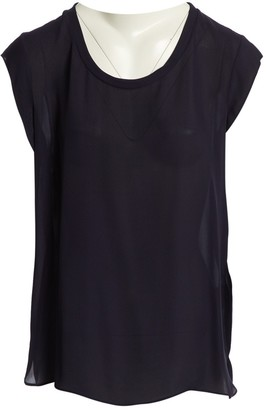 3.1 Phillip Lim Navy Silk Top for Women
